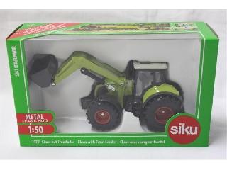 Claas traktor homlokrakodóval