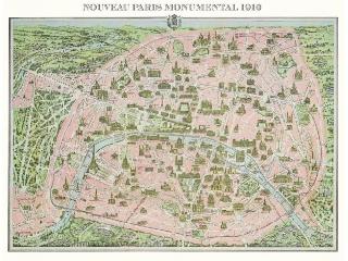 1000 puzzle - Párizs térkép 1910