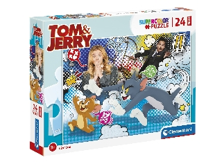24 db-os Super color Maxi puzzle - Tom és Jerry