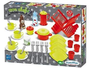 Ecoiffier 39 darabos konyhai szett