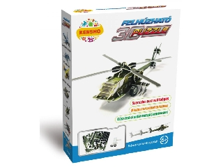 3D Puzzle - Felhúzható katonai helikopter