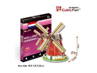 3D puzzle - Holland Windmill 20 db-os szélmalom