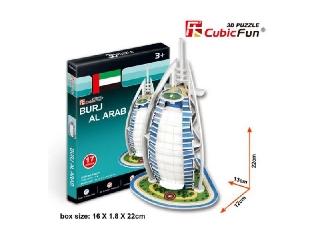 3D puzzle - Burj Al Arab Dubai 17 db-os