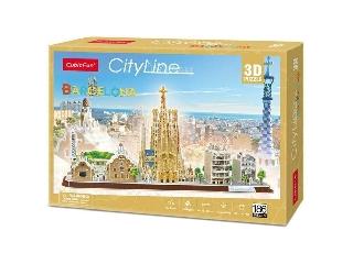 3D puzzle City Line Barcelona