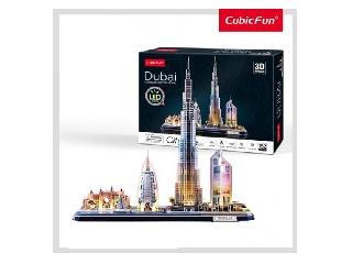 3D puzzle City Line Dubai LED-es