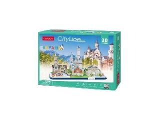 3D puzzle City Line Bajorország