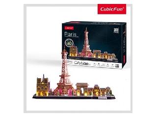 3D puzzle City Line Párizs LED-es