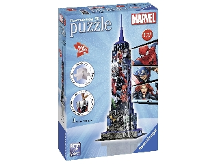 3D Puzzle Empire state bulding 216 db-os kirakó Pókember