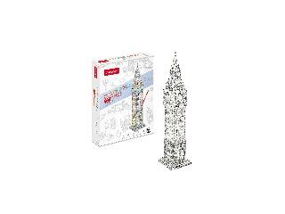 3D puzzle kiszínezhető Big Ben