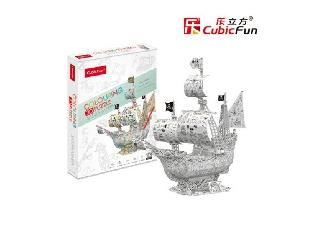 3D puzzle kiszínezhető Santa Maria