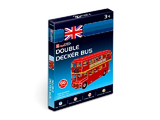 3D puzzle mini Double Decker busz 66 db-os