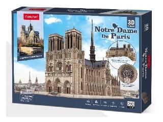 3D puzzle szétnyitható Notre Dame