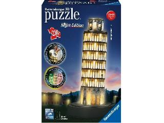 3D Puzzle Világító Pisai ferdetorony 216-db-os