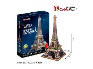 3D puzzle világítós Eiffel Tower LED világítással 82 db-os