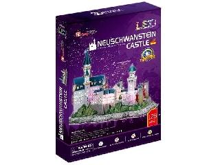 3D puzzle világító Neuschwanstein kastély
