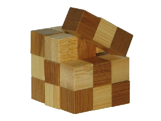 3D Bambusz puzzle -Snake Cubes **