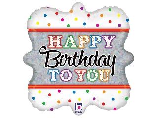 46cm Birthday to You fólia lufi héliummal felfújva