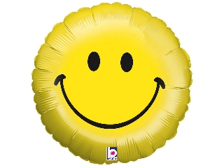 46cm Emoji mosolygós fólia lufi héliummal felfújva