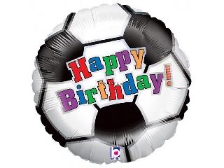 46cm Happy Birthday fólia lufi focis héliummal felfújva