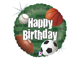46cm Happy Birthday labdás fólia lufi héliummal felfújva
