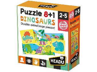 8+1 kétoldali puzzle - Dinoszauruszok