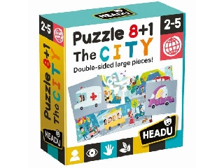 8+1 kétoldali puzzle - Városka