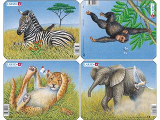 Larsen Mini Puzzle - Afrikai állatok M9