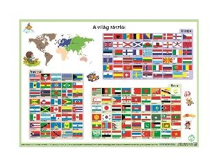 A3 Stiefel - Kétoldalas könyökalátét: A Világ zászlói