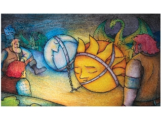 A Nap és a Hold, az okos anya diafilm