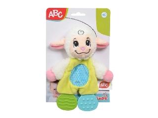 ABC plüss állat fogzás segítővel bárányos