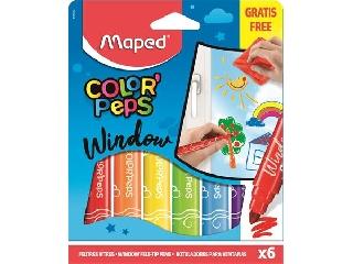 Ablakfilc készlet 6 színű