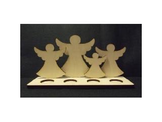 Adventi fa mécsestartó fa figurákkal
