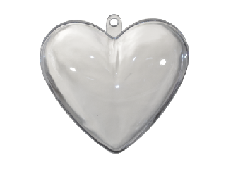 Akril szív 10*10*3 cm 10 db/cs.