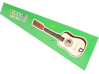 Akusztikus gitár fából - 60 cm