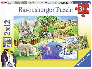 Állatkerti állatok 2 x 12 darabos puzzle