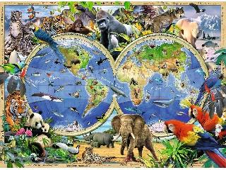 Állatok a világ körül - 300 db-os XXL puzzle