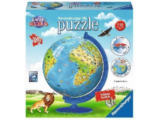 Állatos földgömb 180 darabos puzzleball