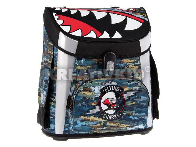 Flying Sharks általános kompakt easy mágneszáras iskolatáska