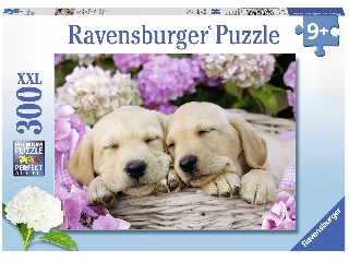 Alvó kutyusok 300 darabos XXL puzzle