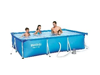 Amalfi szögletes fémvázas medence