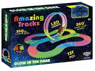 Amazing tracks világító autópálya autóval - 350 cm