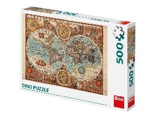 Antik világtérkép 500 darabos puzzle