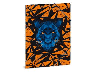 Ars Una Black Panther A/4 gumis dosszié
