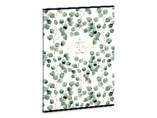Ars Una Botanic Leaf A/4 extra kapcsos füzet-kockás