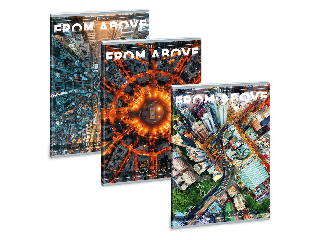 Ars Una Cities from above A/4 extra kapcsos füzet-vonalas