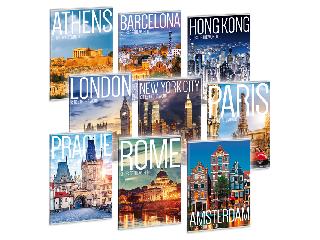 Ars Una Cities of the World A/4 extra kapcsos füzet-sima többféle