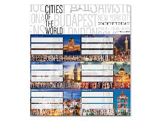 Ars Una Cities of the world csomagolt füzetcímke (3*6 db)