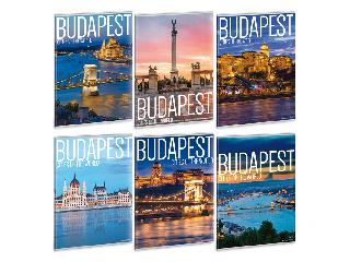 Ars Una City Budapest A/4 extra kapcsos füzet-kockás