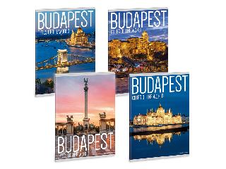 Ars Una City Budapest A/5 extra kapcsos füzet-vonalas
