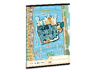 Ars Una City of Budapest A/5 kockás füzet 2732